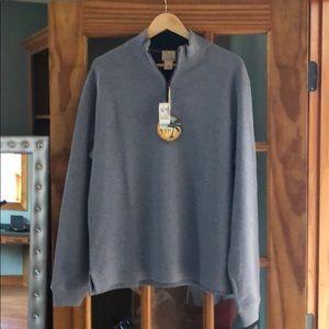 Mock neck 3/4 zip sweater